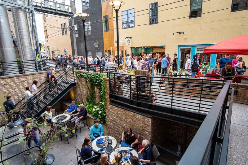 PictureUrban Alley, Downtown Fargo, Beer and Fish Company, Fly Fargo, Dillard Apartments, Midwest Nest Magazine