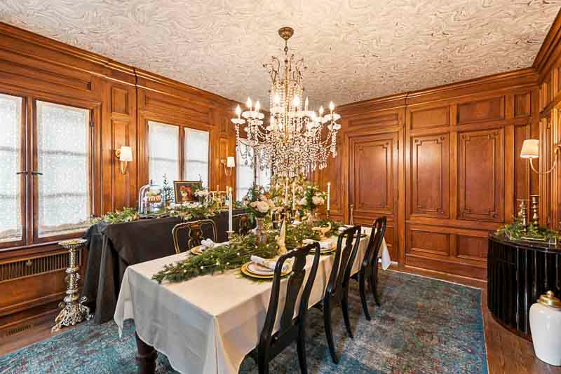 dining room 1, South Fargo, Shawna Davidson, A Christmas to Remember, Thrifty decorating, Midwest Nest Magazine