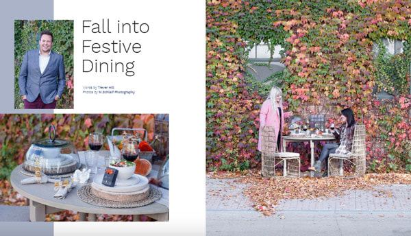 Fall Into Festive Dining, Midwest Nest Magazine, November 2017